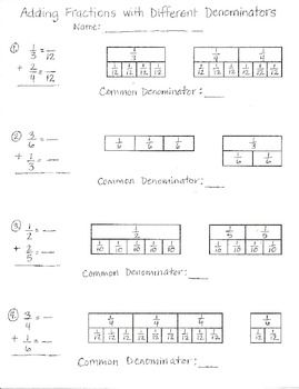 Worksheets Fraction Attraction Worksheet 1424 best images about fractions break the numbers on adding with different denominators worksheet