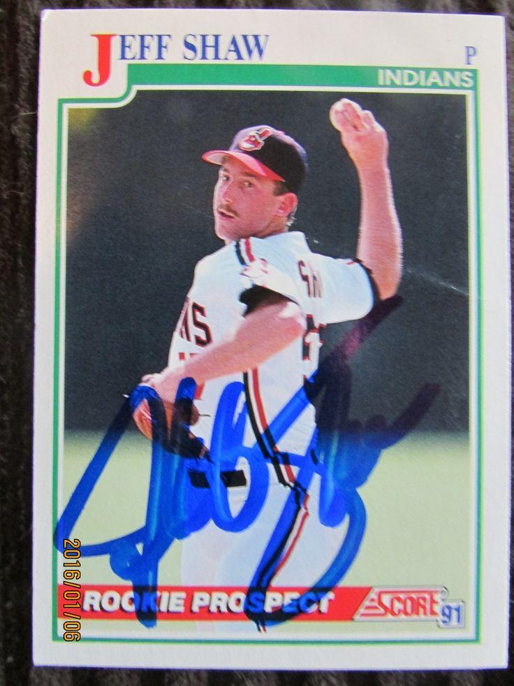 1991 Score 746 Jeff Shaw (TTM) (With images) Scores