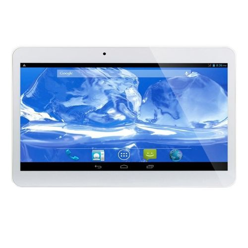 [$60.80] 10 inch Touch Screen Android 4.4 3G Phone Call Tablet, MT6582 Quad Core 1.3GHz, RAM: 2GB ROM:16GB, Dual SIM, Support WiFi, GPS, OTG, FM, BT(White)