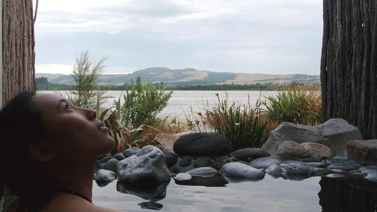 Open-air thermal spa in Rotorua. (January 2011)
