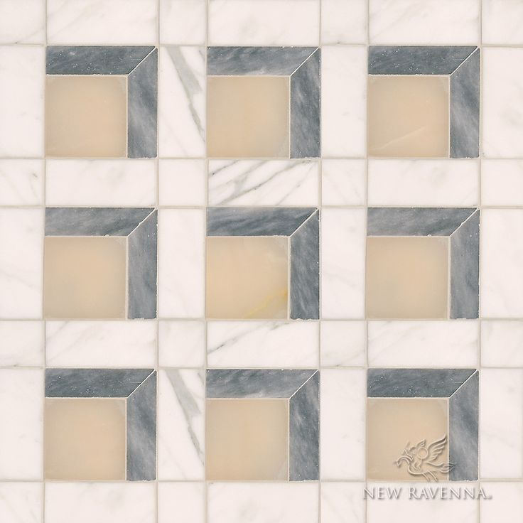 Paseo A Handmade Mosaic Shown In Polished Cream Onyx Honed Allure And Calacatta Is Part Of The Illusions Collection By Sara Baldwin Paul