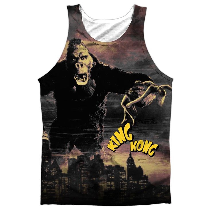 """Checkout our #LicensedGear products FREE SHIPPING + 10% OFF Coupon Code """"Official"""" King Kong/kong In The City-adult 100% Poly Tank T- Shirt - King Kong/kong In The City-adult 100% Poly Tank T- Shirt - Price: $24.99. Buy now at https://officiallylicensedgear.com/king-kong-kong-in-the-city-adult-100-poly-tank-t-shirt-licensed"""
