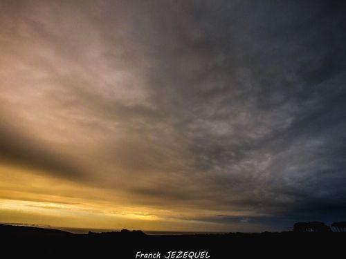 Massive sky #orange,  coucher de soleil  art