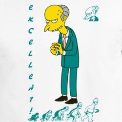Mr Burns Excellent Catchphrase The Simpsons Cartoon Animated T Shirt