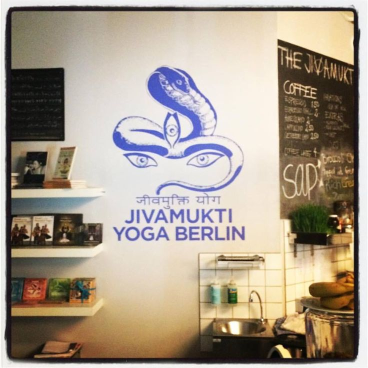The wonderful Jivamukti Yoga centre and vegan cafe in the Mitte, Berlin.