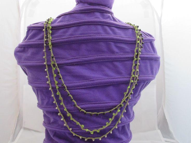 Collana lunga tripla con perline