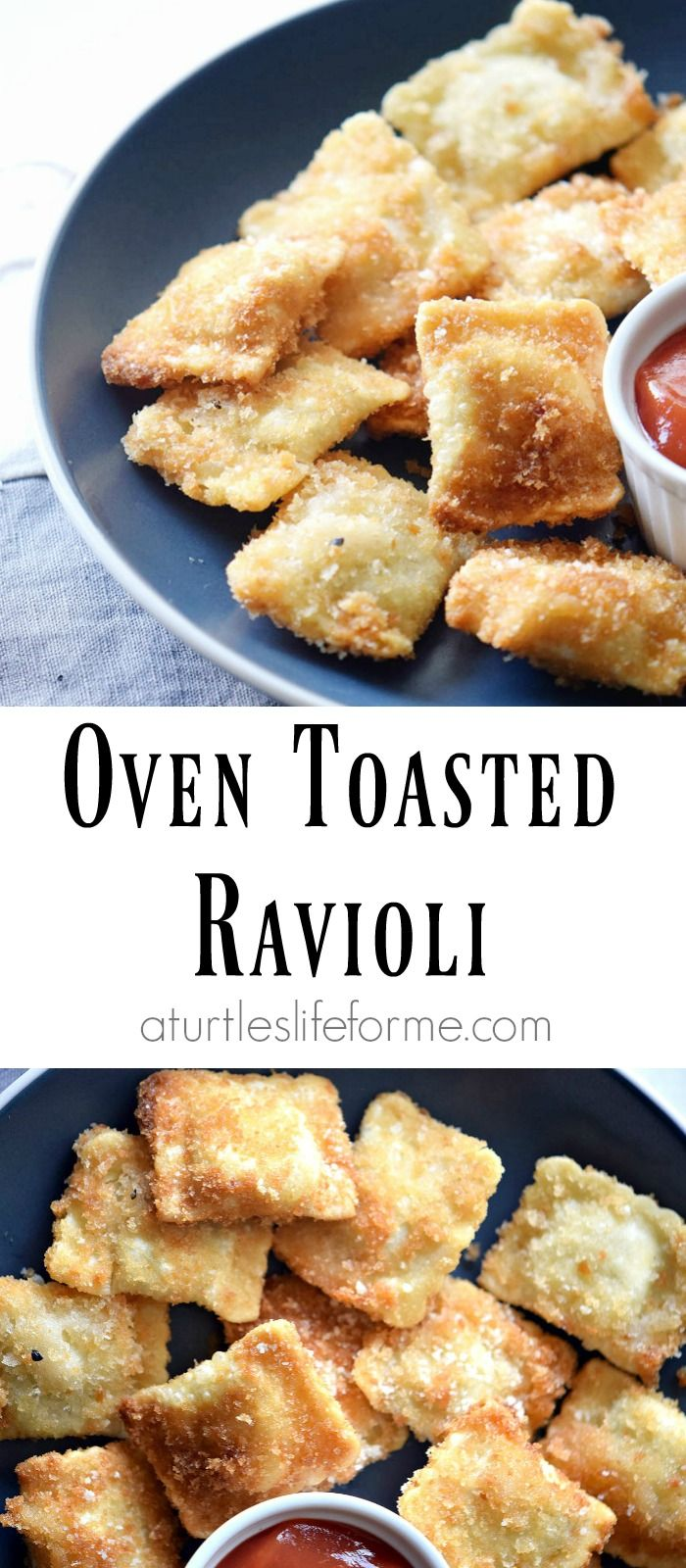 Oven Toasted Ravioli Recipe that can be used as an appetizer or a main course! Either way, it's delicious!