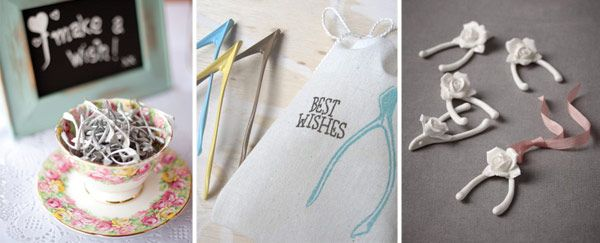 Wedding-Favours---Wishbones - Read more on One Fab Day: http://onefabday.com/10-fab-wedding-favour-ideas/