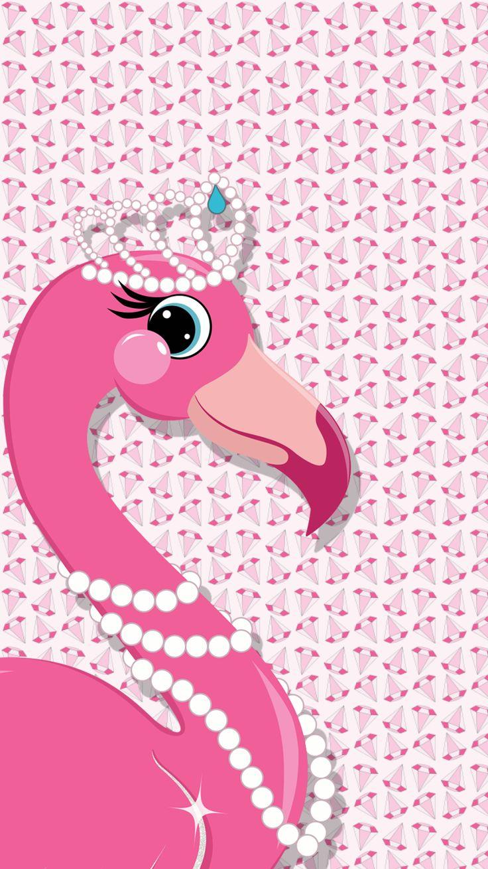 free iphone wallpaper pink flamingo diamond diva iPhone