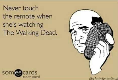 Watching walking dead
