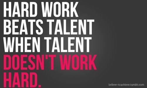 Hard work beats talent when talent doesn't work hard. - Entrepreneur Blog