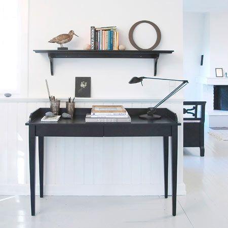 Oliver Furniture Konsolbord-Skrivbord / svart 091022