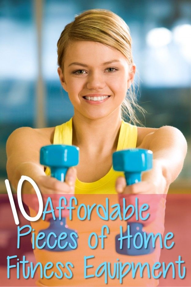 10 affordable pieces of home fitness equipment.