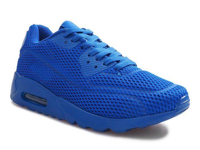 Niebieskie Siatkowane Obuwie Sportowe Air Max Sneakers Sneakers Nike Nike Air