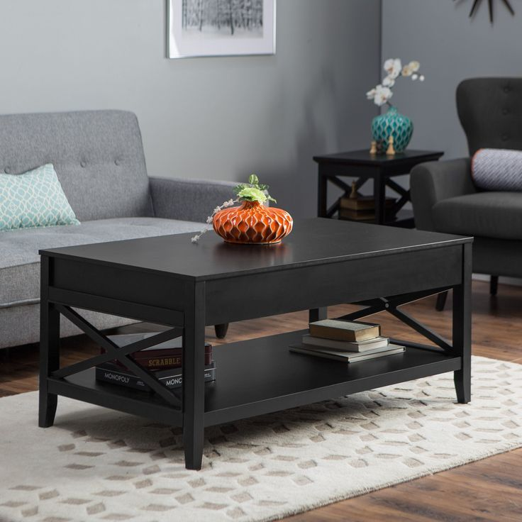 Classy Coffee Table For Lazy Time Leather Black Tables Round