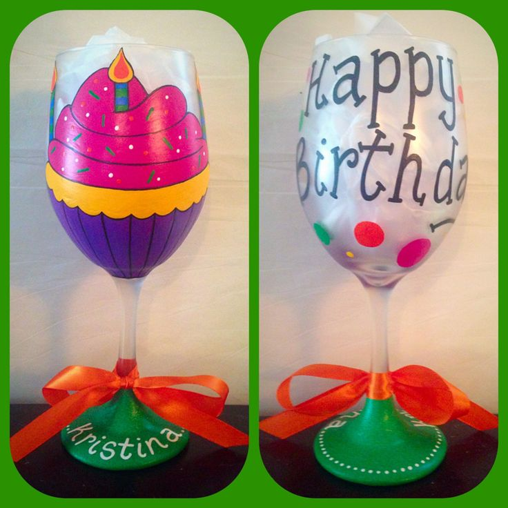 Happy Birthday Wine Glass Hand Painted ~ Happy 21st Birthday Glass ~ Fabulous 50 ~ Birthday Toasting Glass ~ The Dirty 30 ~ Party Wine Glass by WattsGoodArtistry on Etsy. Follow WattsGood Artistry on Facebook: https://www.facebook.com/wattsgoodartistrydesigns