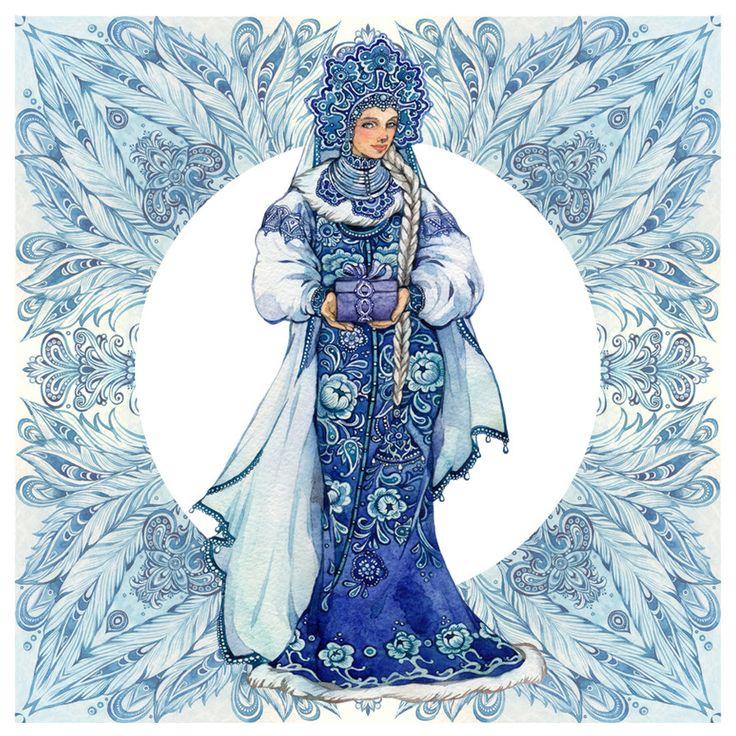 - Snow Maiden - by Losenko on deviantART
