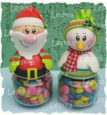 dulceros de navidad en foami - Buscar con Google