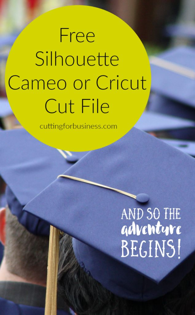 Free Commercial Use Graduation Cut File for Silhouette Cameo or Cricut by cuttingforbusiness.com