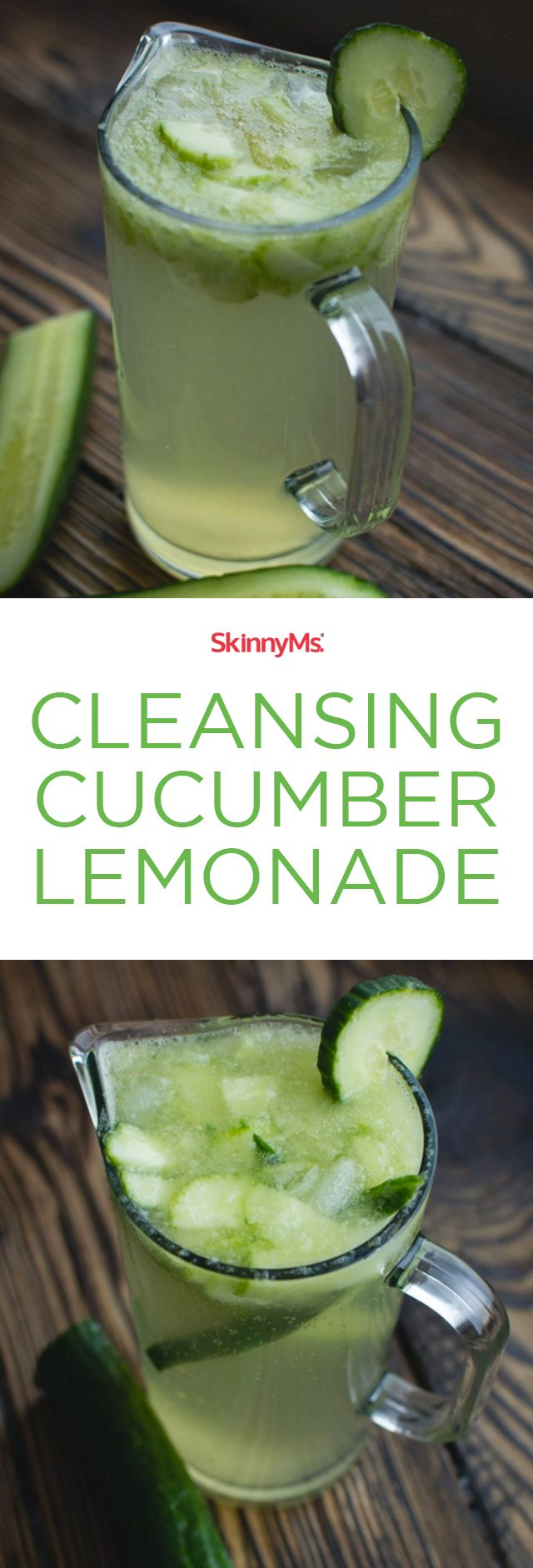 Boost your fat loss with this Cleansing Cucumber Lemonade! #detox #cleanse