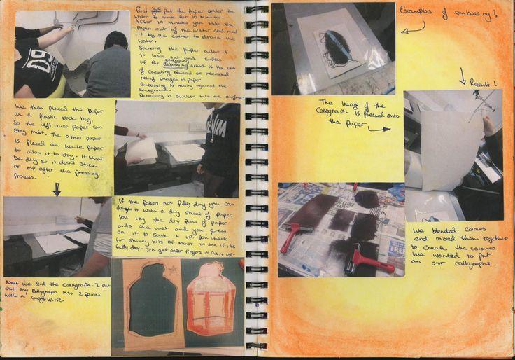 collograph page