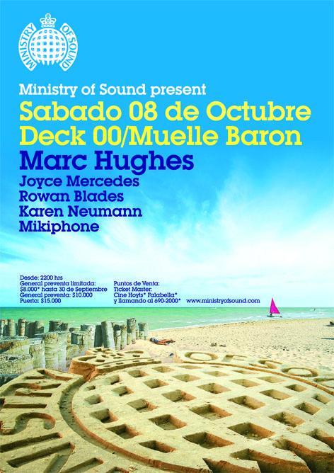 Afiche fiesta Ministry of Sound