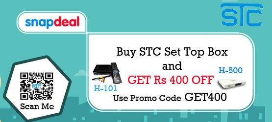Use Promocode & Get 400/ Rs Off On STC SET TOP BOX
