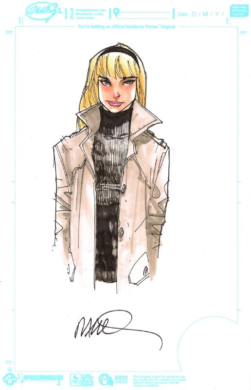 Gwen Stacy by Humberto Ramos