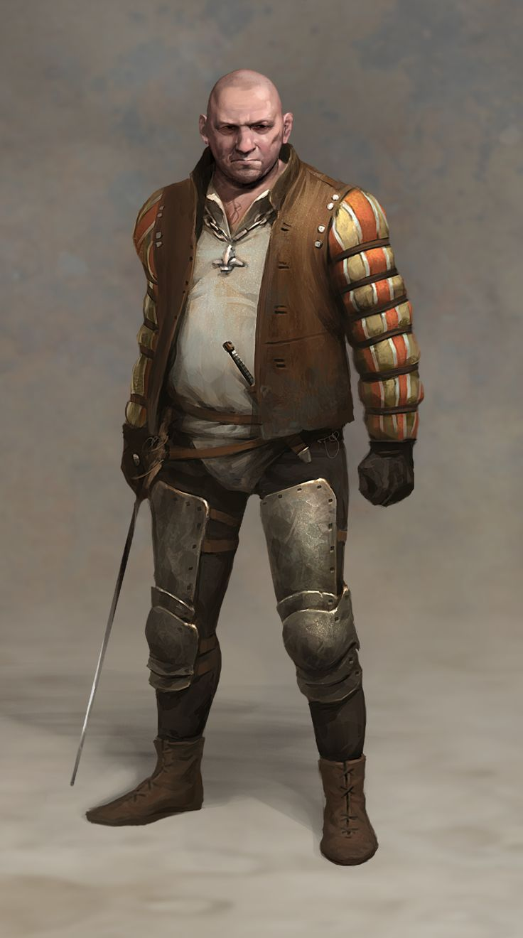 M Npc Thug Highwayman Med Armor Rapier Dagger Necklace Lg