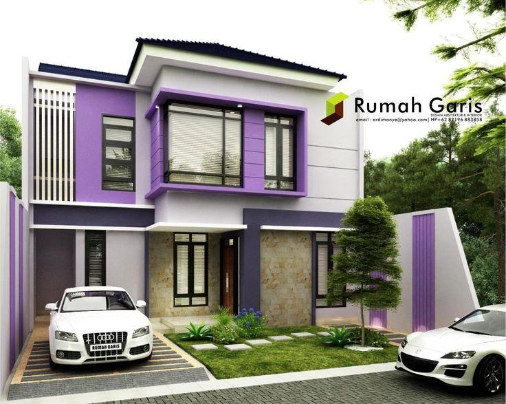 tampak depan rumah cantik modern minimalis