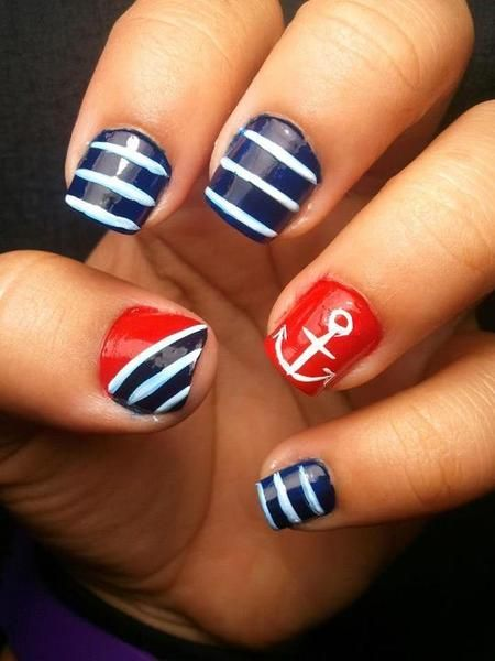 Best 25 sailor nails ideas on pinterest nautical nails nautical nails tumblr prinsesfo Image collections