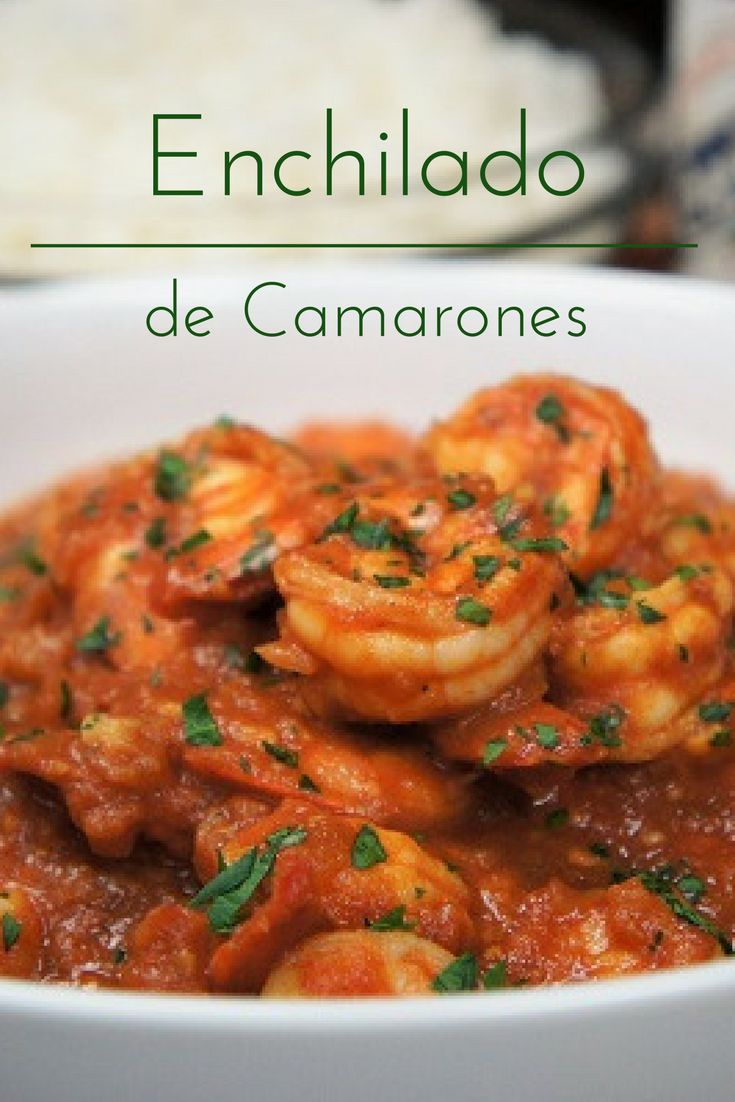 Saucy and a little bit spicy, enchilado de camarones is a Cuban recipe similar to a shrimp creole. It translates roughly to spicy shrimp.