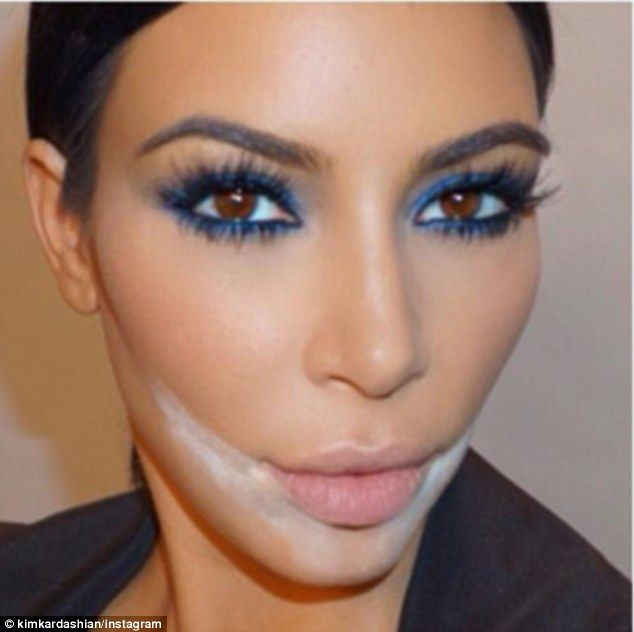 Pop: The blue shadow really made Kim's brown eyes stand out