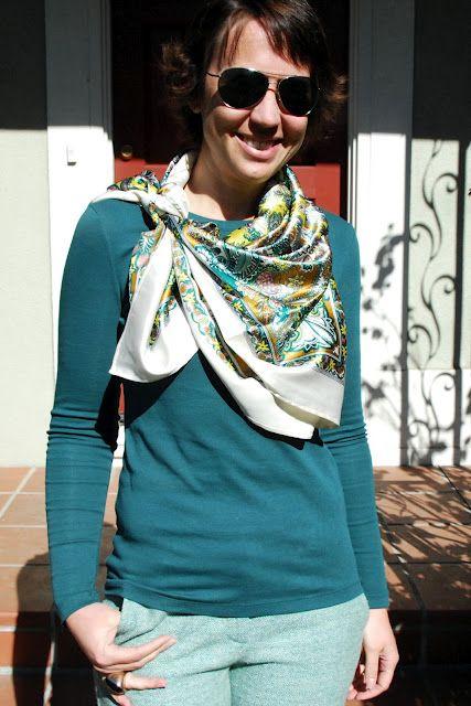 good way to tie my square silk scarf
