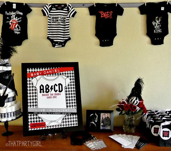 Printable Rock Star Nursery Poster Baby Shower Decoration