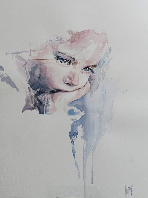 painting, art, and watercolor image