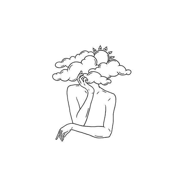 20+ Schwarzweiß-Illustration mit minimalistischen…