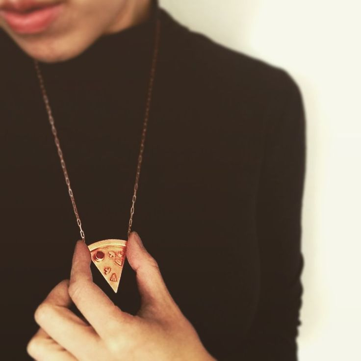 More Pizza Please Necklace - Shop Online - Design Studio Rock and Gold