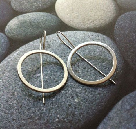 Excited to share the latest addition to my #etsy shop: Silver hook earrings - open circle earrings -geometric minimalist jewelry -statement earrings -bold earrings- gift for her - dangle and drop #jewelry #earrings #silver #circle #earwire #women #geometric #minimalist #earlobe