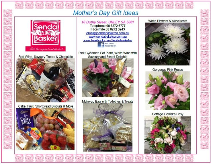 Hi everyone. We will be open tomorrow Mothers Day from 9:99am to 2:00pm. Hope you all have a wonderful day. Please give me a call to arrange your gifts. 8272 6777.