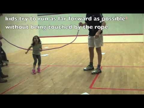 Bewegen met een bewegend touw voor kleuters / Run away activity for preschool