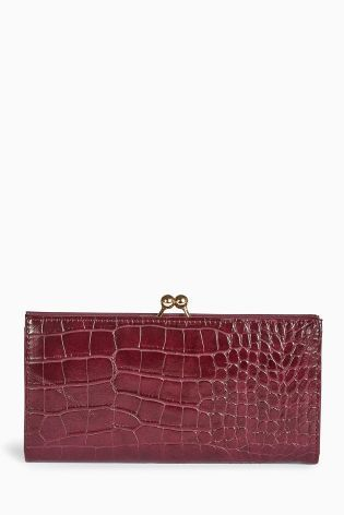 Buy Berry Crocodile Effect Twist Top Purse from the Next UK online shop