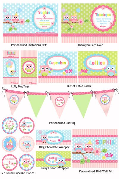 Party Owls Party Printable