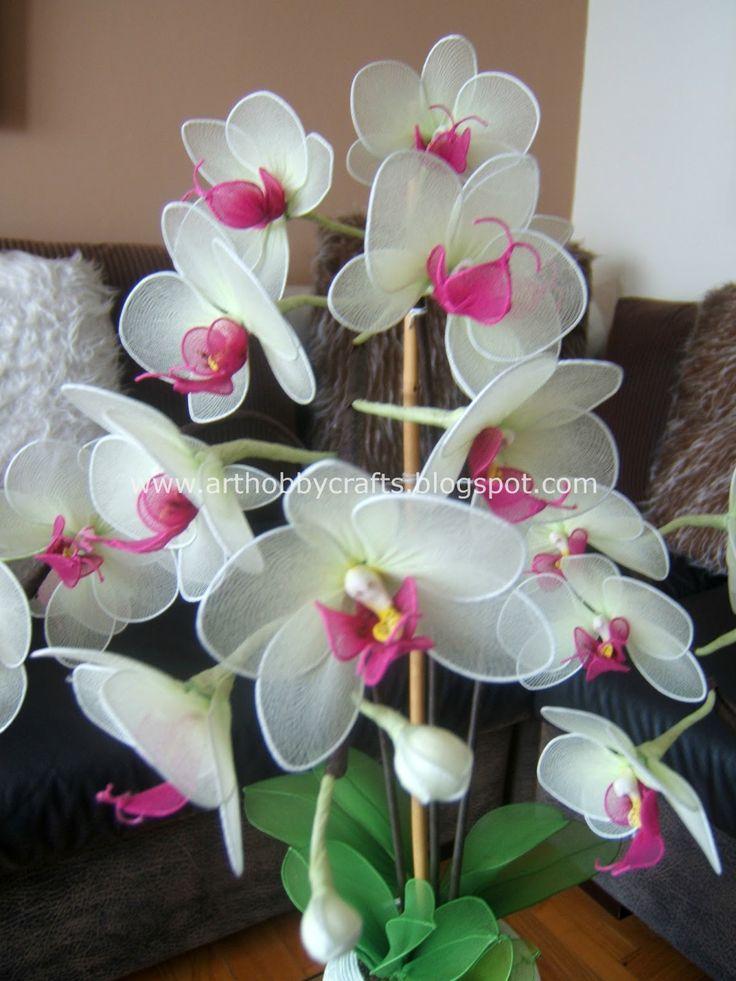 Art Hobby Crafts: Phalaenopsis orchid -Stocking