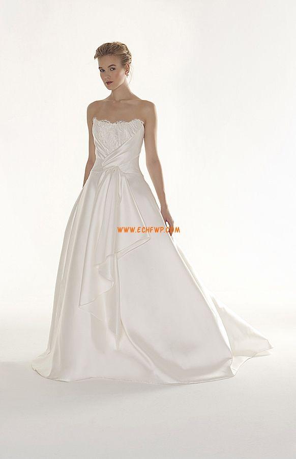 Kostel Elegantní & luxusní Bez rukávů Levné svatební šaty