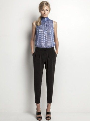Helen Cherry Brittany Blouse (Sapphire) & Jamie Trouser (Black) #HelenCherry