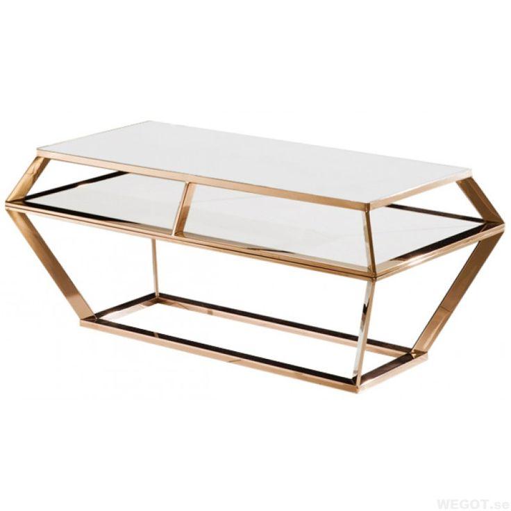 Diamond table - Marmor soffbord med koppar rede