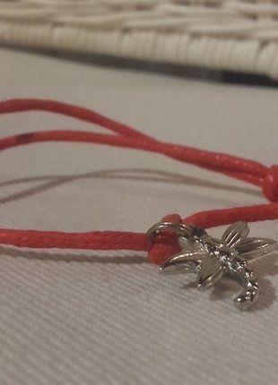 Kup mój przedmiot na #vintedpl http://www.vinted.pl/akcesoria/bizuteria/16659437-czerwona-bransoletka-z-wazka-typu-lilu