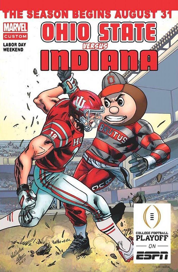 GAME #1 8-31-2017 THE VS. INDIANA MARVEL COMICS.