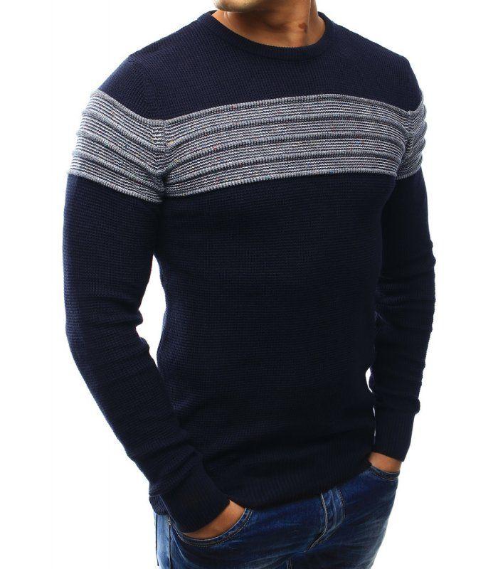Pánsky sveter tmavomodrý